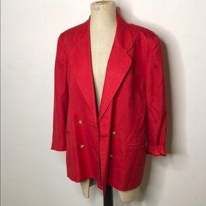 Red vintage style blazer